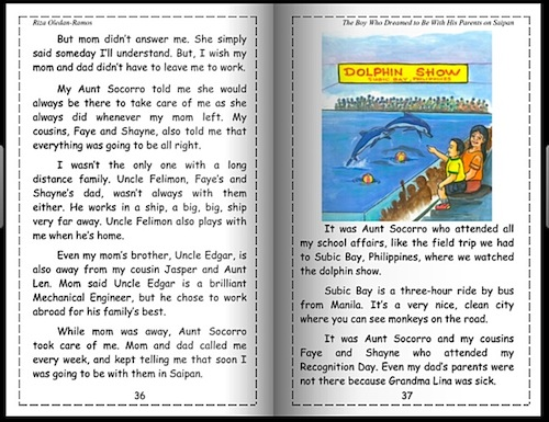 excerpt from the boy who dreamed to be with his parents on saipan